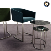 Noble Dining Chair With Coffee Table