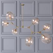Потолочный светильник Branching Bubbles Gold 7 ламп