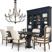 """Hooker Furniture """"Dining Room Roslyn County Deconstructed Upholstered Host Chair"""", """"Dining Room Crafted Upholstered Arm Chair"""" 