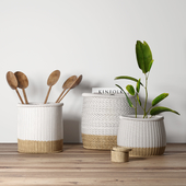 Decorative set with baskets 2