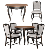 Table and chairs from the collection of Mobilier de Maison