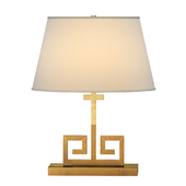 Alexa Hampton Kate Natural Brass Decorative Table Lamp Portable Light