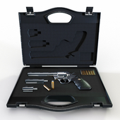Weapon case with revolver