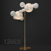 Giopato & Coombes floor lamp BOLLE 12 bubble FROST / GOLD