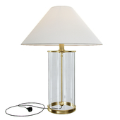 Ralph Lauren Home Modern table lamp in natural brass