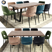 Calia Dining Table Chair With Rug