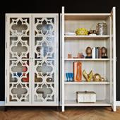 Showcase Universal Furniture Elan with decor