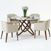 Scandinavian Designs Oleander Dining Table & Lank chair