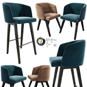 Minotti Creed Dining Chair And Bar Stool
