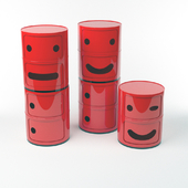 """Kartell Chests """"Componibili Smile"""""""