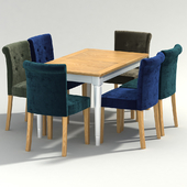 karol coletta chair with harmony table