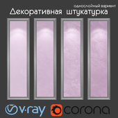 Decorative plaster, single layer version 313