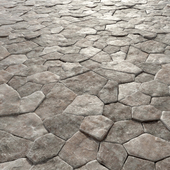 Old rock paving stones