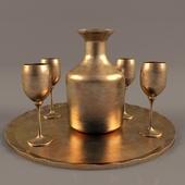 PITCHER & GLASS golden