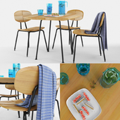 Ethimo Agave dining chair and table set