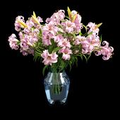 Vase lily pink