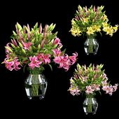 Vase lily set 02