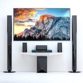 Home Theater Sony BDV-E4100 + TV Sony AF8