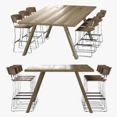 Стол и стул барнообеденный