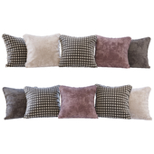 A set of pillows: beige, burgundy, brown velvet and Paglia di Vienna (Pillows beige burgundy brown velvet and Paglia di Vienna)