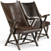 Observatory Hill Vintage Leather Accent Chair