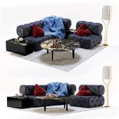 Набор из модульных диванов