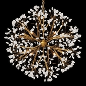 Spherical Twelve-Light Quartz Chandelier