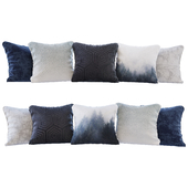 A set of blue forest pillows (Pillows blue forest YOU)