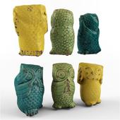 Wise Owl Figurine Set