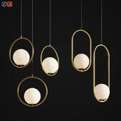 Two Pendant Hanging Light Set 01