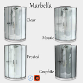 Semicircular Shower enclosure Invena (90х90)
