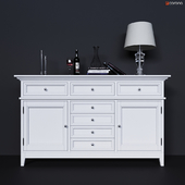 Chest high with facades and drawers center Dantone Home