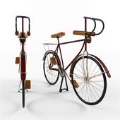 Metal and Wood Model Bicycle