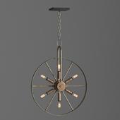 wheel loft industrial chandelier