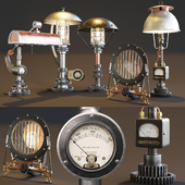 AVE Machine Brothers Lamps Set