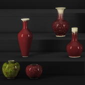 Qing Dynasty Porcelain bottle Combination