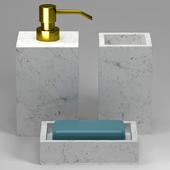 Marble bath decor set