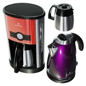Russell Hobbs coffee and electric kettle, cottage set