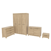 Set of furniture Black Red White, collection Gent