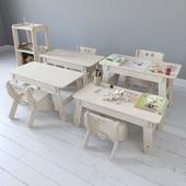 Мебель серии CLIC от Playply с наполнением