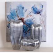 Howard Elliott Ribbed Ceramic Vase