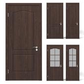 Interior dark wood doors