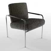 wayfair armchair metal brushed
