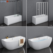 A set of baths Ravak set 17 (Classic and Freedom W in 2 variants)