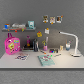 To the competition. School decorative set