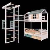 Детская кровать и игровая площадка