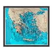 """на конкурс"" Wooden map for history class"
