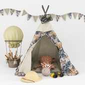 Wigwam for children with decor