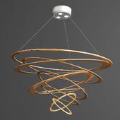Loop Design Pendelleuchte in Gold