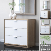 IKEA ASKVOLL Chest of 3 drawers